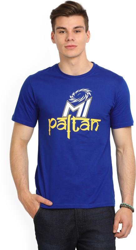 Mumbai Indians Printed Men's Round Neck Blue T-Shirt
