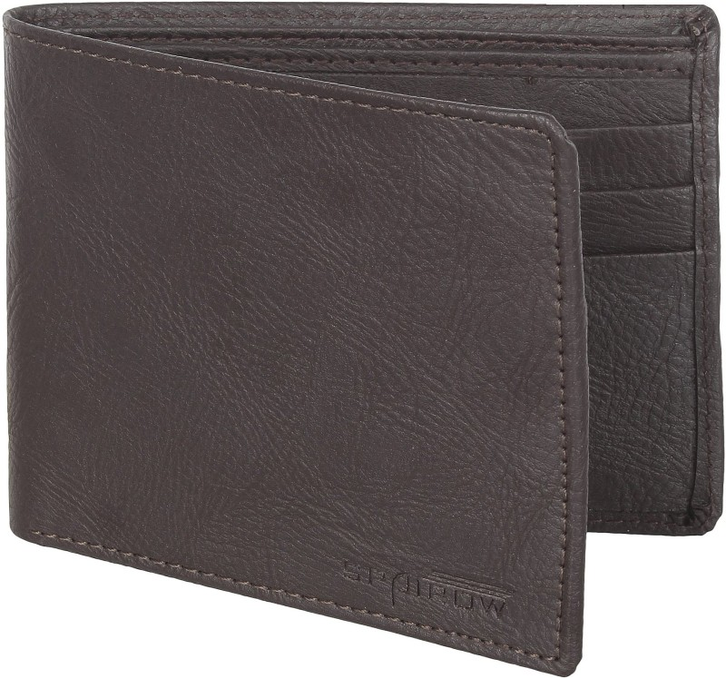Spairow Men Black Artificial Leather Wallet(6 Card Slots)