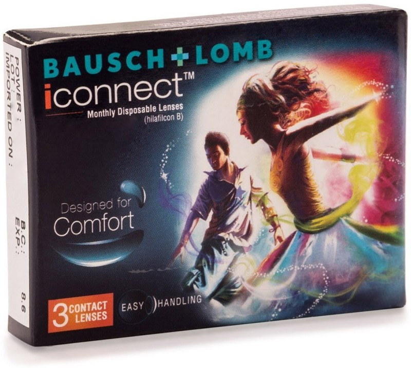 Bausch & Lomb iconnect Monthly Contact Lens(-5.5, Transparent, Pack of 6)