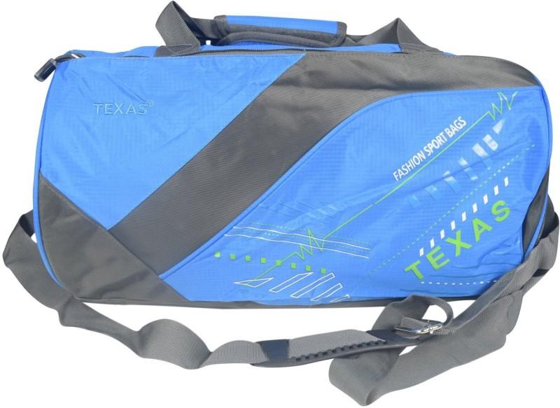 Texas USA (Expandable) Exclusive Imported Gym Bag-313-Blue Grey Gym Bag(Blue)