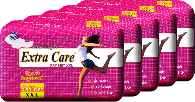 Extra Care Dry Net XXL Pack of 5 Sanitary Pad(Pack of 5)