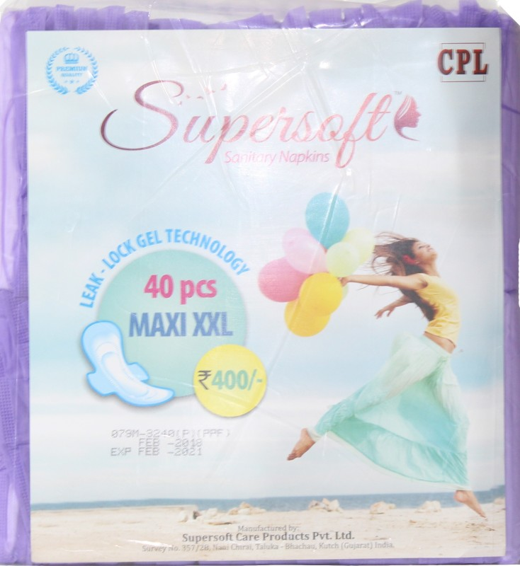 Supersoft Sanitary napkins For -Women & GIrls Sanitary Pad(Pack of 40)