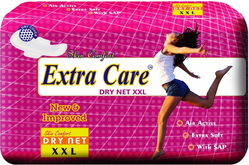 Extra Care Dry Net XXL Sanitary Pad(Pack of 7)