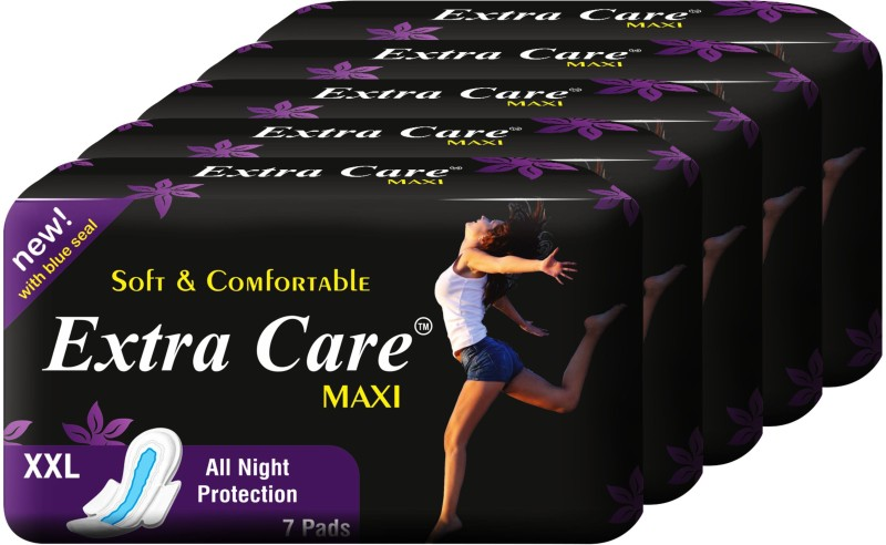 Extra Care Maxi Pack of 5 (35 Pcs) Sanitary Pad(Pack of 5)