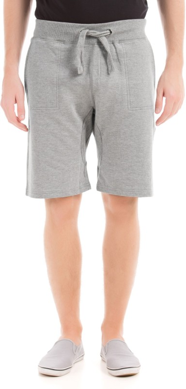 Izod Solid Men Grey Regular Shorts