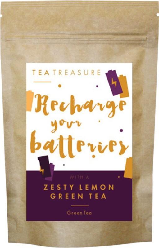 TeaTreasure Zasty Lemon Green Tea Lemon Green Tea(50 g, Pouch)