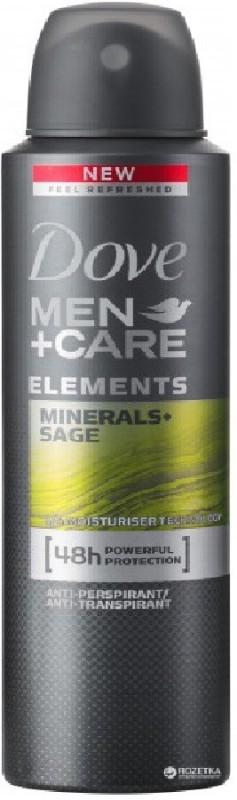 Dove Men+ Care Minerals+ Sage Deodorant (Made in UK) Deodorant Spray - For Men(150 ml)