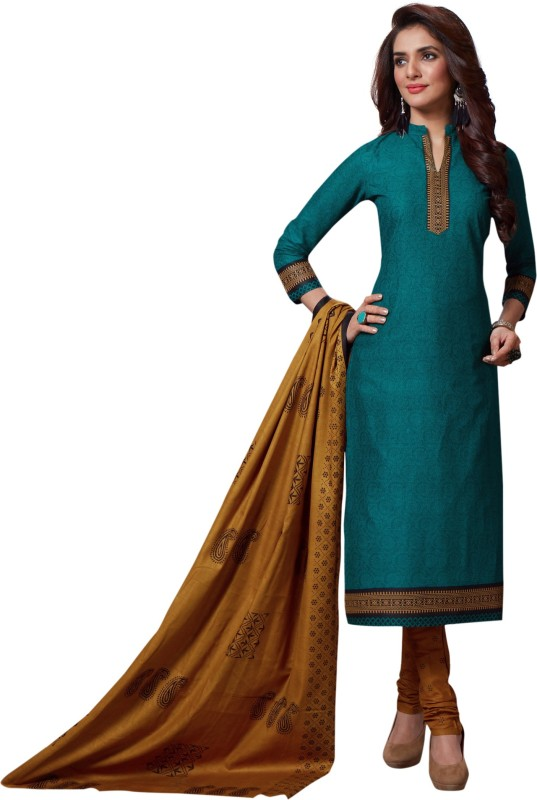 Fashion Valley Cotton Printed Semi-stitched Salwar Suit Dupatta Material
