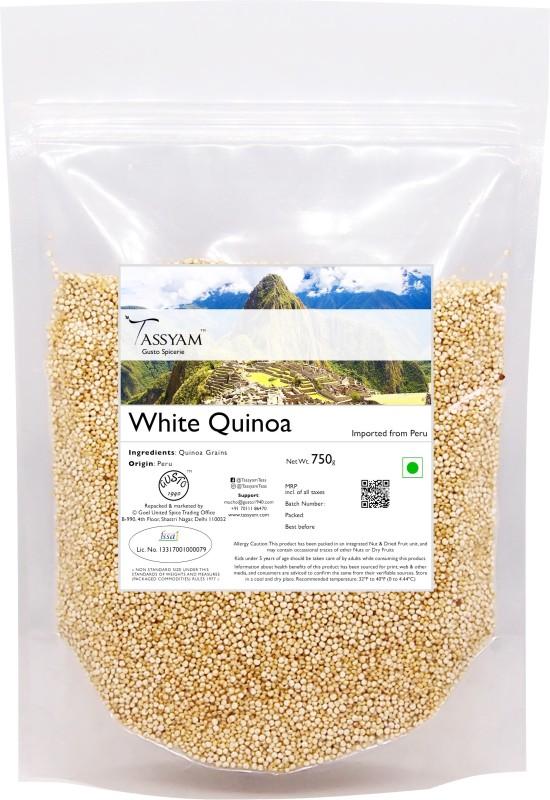 Tassyam Gluten Free Peruvian White Quinoa Grain, 750g Pouch | Imported from Peru Quinoa(750 g)