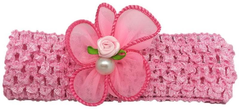 Stoln Kids Hair Accessory Daily wear / Party wear Crochet Cutwork Flower Headband-Light Pink Head Band(Pink)