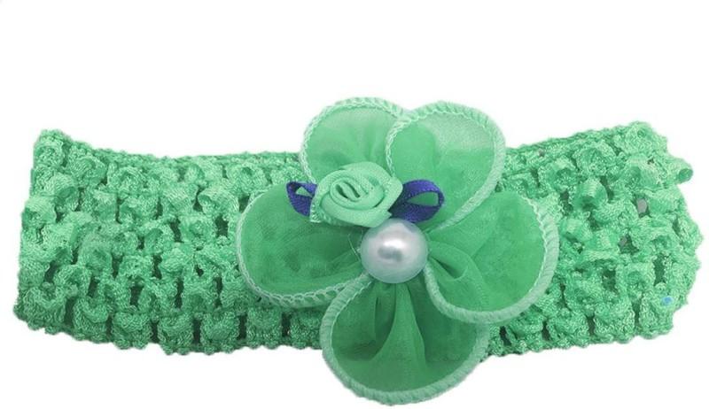 Stoln Kids Hair Accessory Daily wear / Party wear Crochet Cutwork Flower Headband-Green Head Band(Green)
