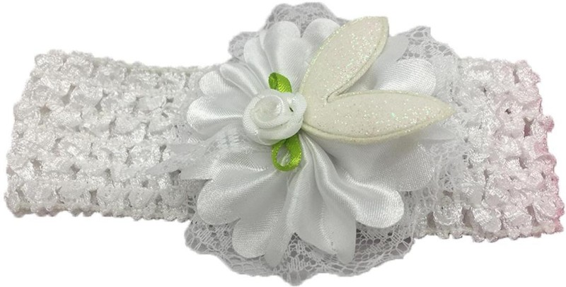 Stoln Kids Hair Accessory Daily wear / Party wear Crochet Cutwork Flower Headband-white Head Band(White)