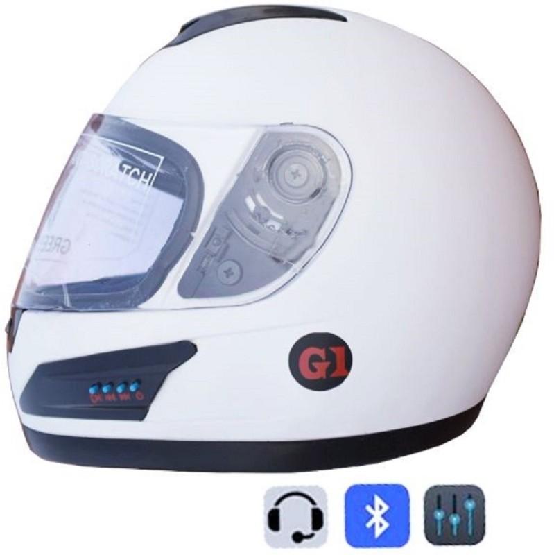 Greenstone GREEN STONE Motorbike Helmet(White)