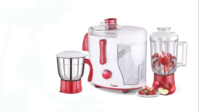 Prestige 41119 550 Juicer Mixer Grinder(Red, 2 Jars)