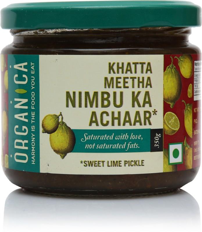 Organica Khata Meetha Aachar Lime Pickle(350 g)