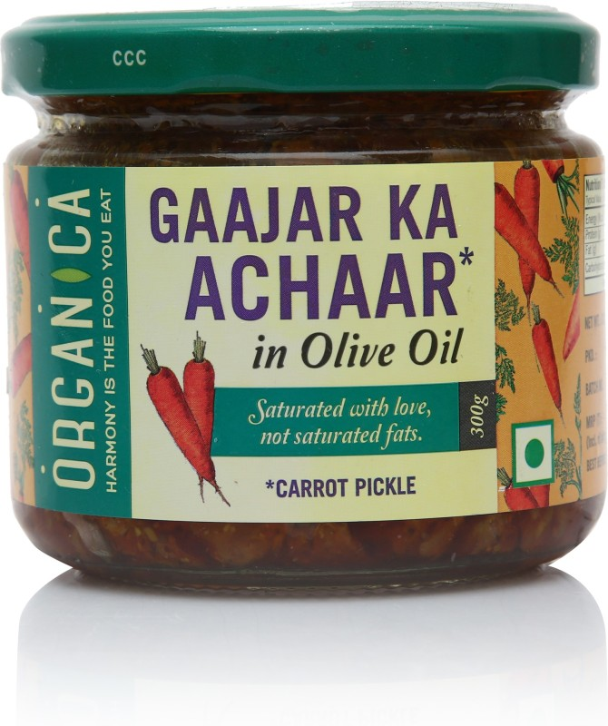 Organica Gaajar Ka Aachar Carrot Pickle(300 g)