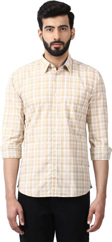 Parx Mens Checkered Casual Cut Away Shirt