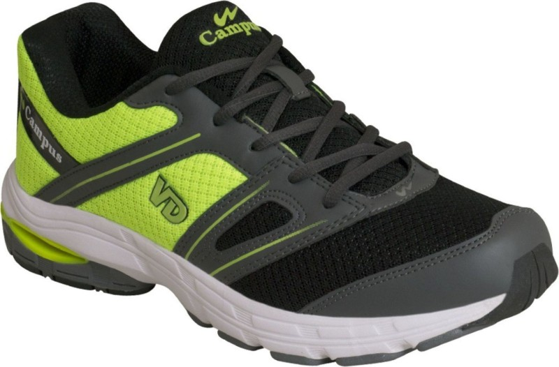 Campus Campus Veedee D.Gry/Bk/F.Grn Running Shoes For Men(Grey, Black, Green)