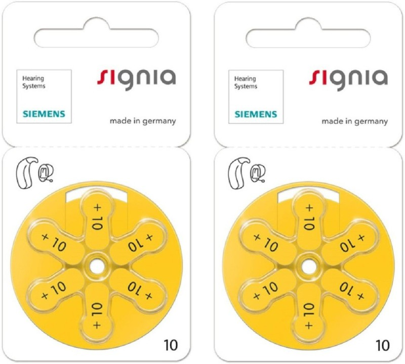 Signia P10 1.45V Hearing Aid Batteries 1.45V 2 patta (12 battery) Stethoscope Case(Silver)