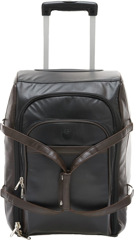 Mboss STB_041_BLACK_BROWN Cabin Luggage - 19 inch(Black)
