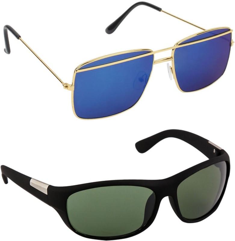 Hob Epic Ink Aviator Sunglasses(Green) image