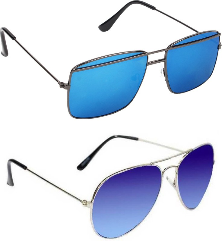 Hob Epic Ink Aviator Sunglasses(Blue) image