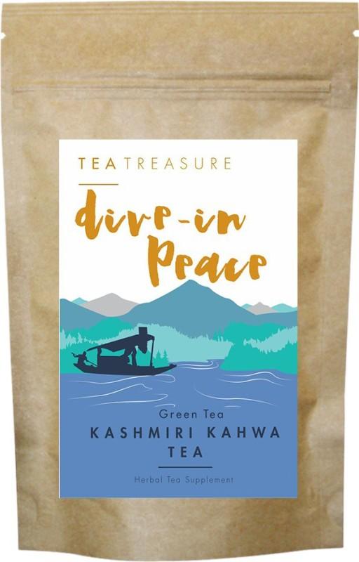 TeaTreasure Kashmiri Kahwa Green Tea Unflavoured Green Tea(0.05 g, Pouch)