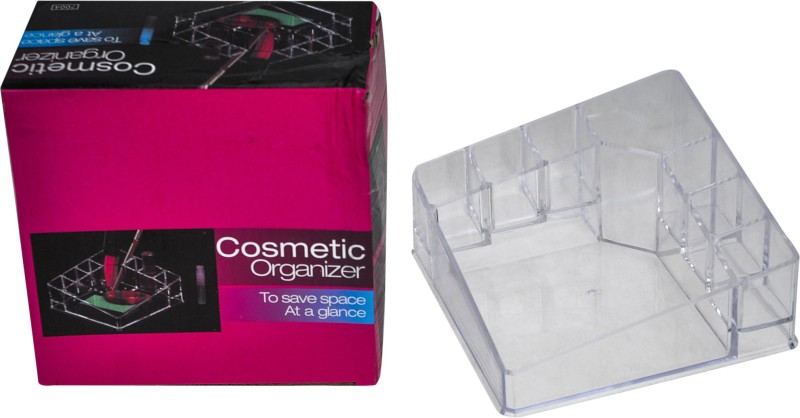 Avmart 8 Slots Make up Brush , Lipstick & Nail Polish Cosmetic Holder Organizer Cosmetic box Vanity Box(transparent)