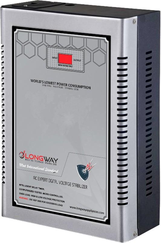 LONGWAY 1504 AC Digital Voltage Stabilizer 4 KVA/ 150 - 280 Volts(Gray)