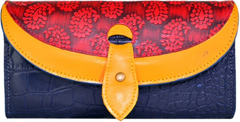 Holii Women Blue Genuine Leather Wallet(1 Card Slot)