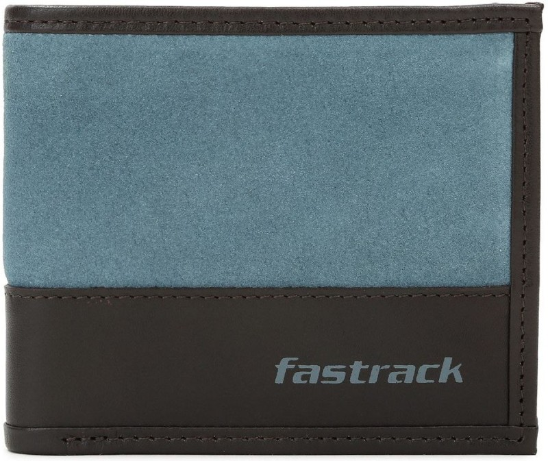 Fastrack Men Blue Genuine Leather Wallet(6 Card Slots)