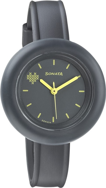 Sonata 87026PP03 Tic Tac Toe Women's Watch image