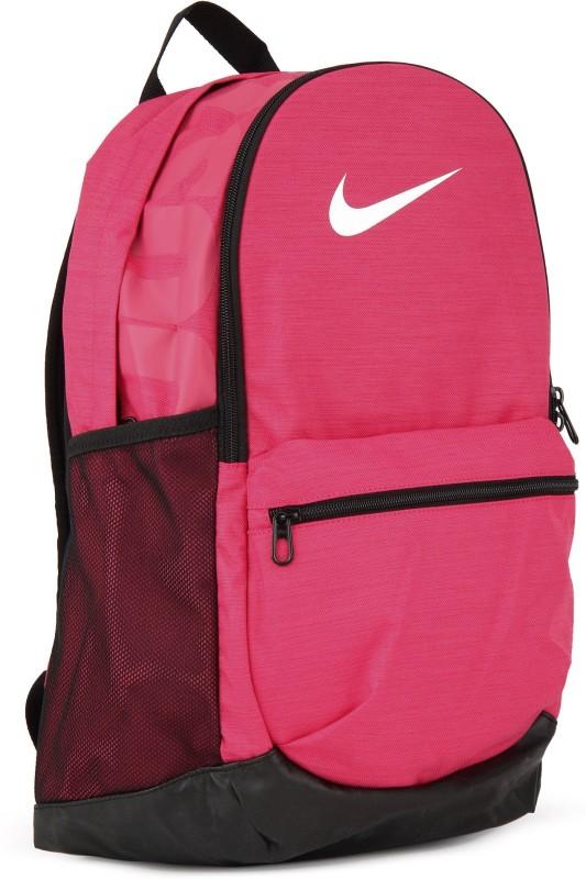 Nike NK BRSLA M BKPK 24 L Backpack(Black, Pink)
