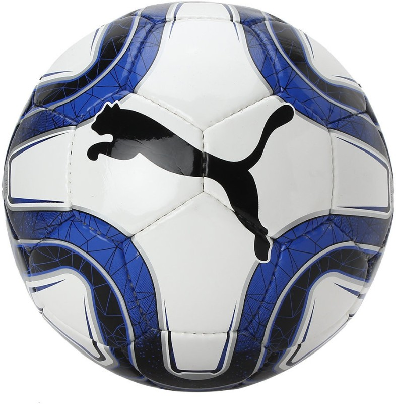 Puma 5 Hs Trainer White Blue Soccer Ball Football - Size: 5(Pack of 1, Multicolor)