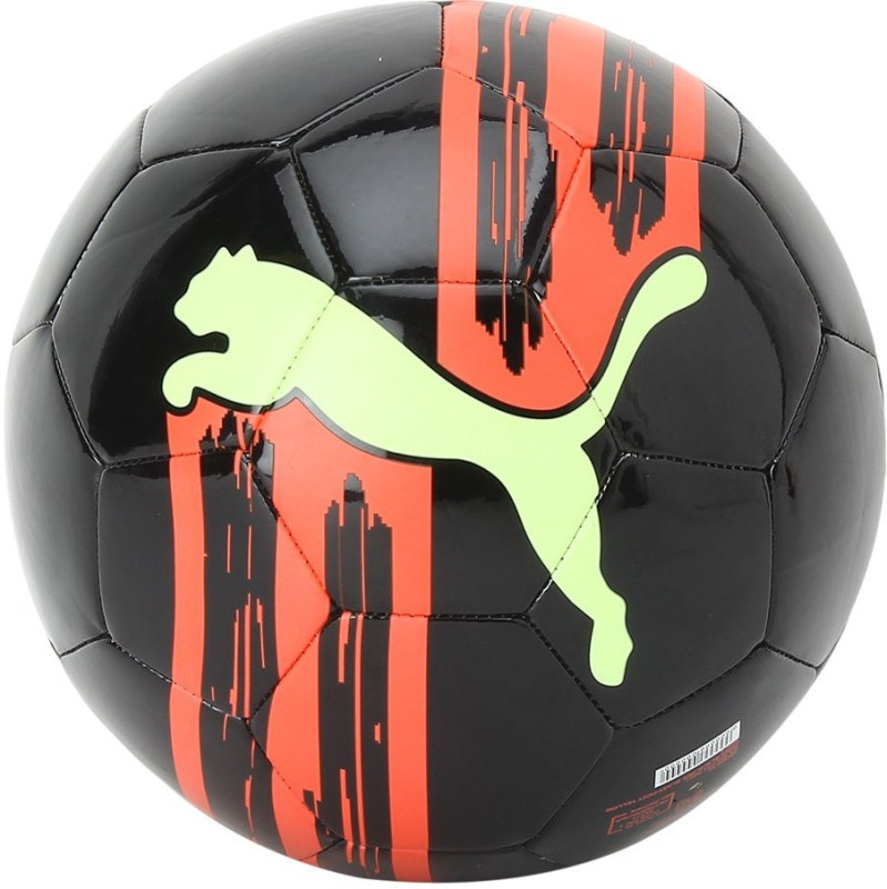 Puma Ka BIg Cat Black Red Yellow Soccer Ball Football - Size: 5(Pack of 1, Multicolor)