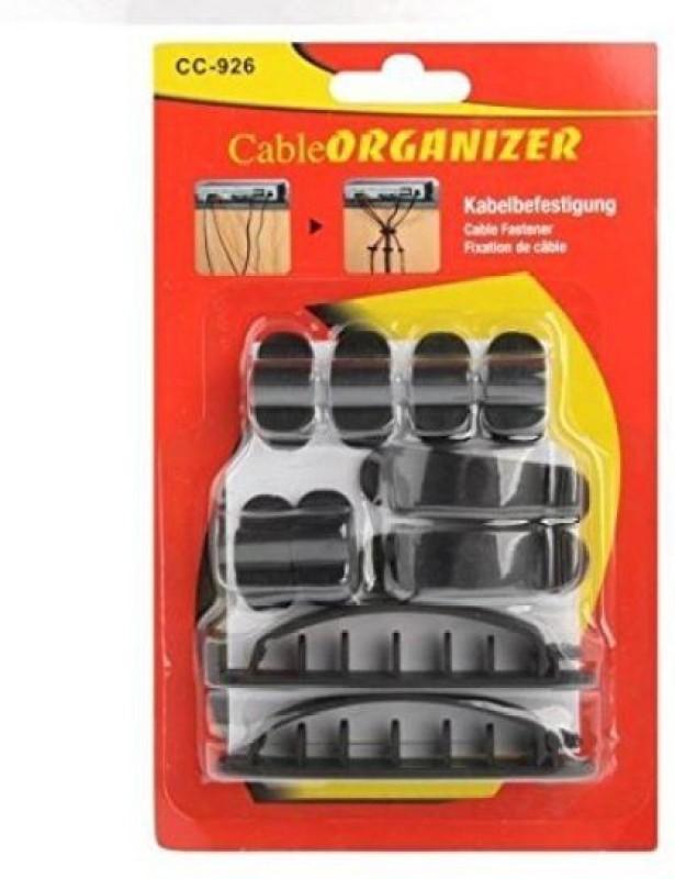 ACUTAS 10Pcs Plastic Cable Cord Wire Line Organizer Fixer Holder Clips Ties Fastener (CC-926) Cable Drop Clip(Mullti Color)