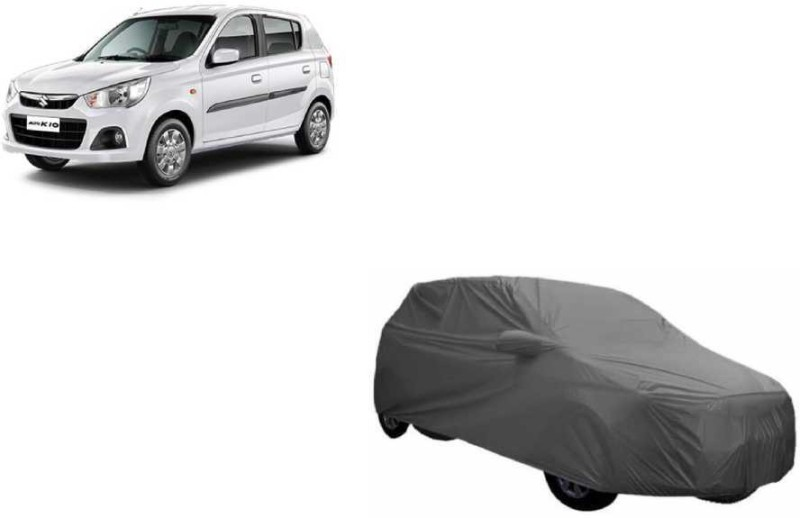 A K Traders Car Cover For Maruti Suzuki Alto K10 (With Mirror Pockets)(Grey)