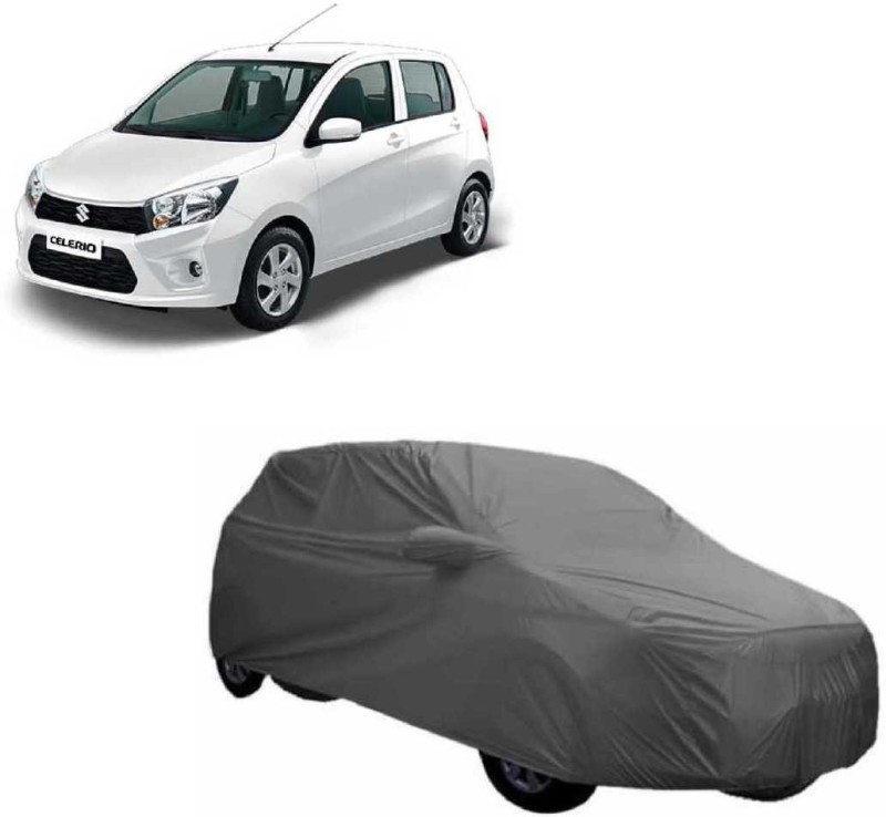 A K Traders Car Cover For Maruti Suzuki Celerio (With Mirror Pockets)(Grey)