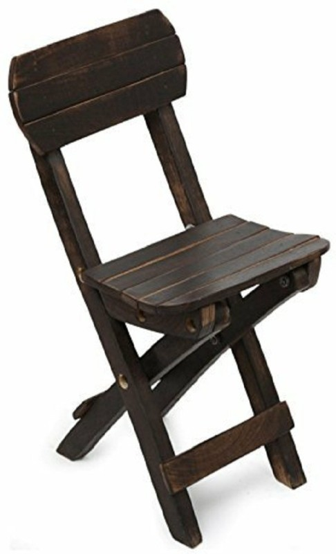 Worthy Fancy Shoppee Beautifully handcrafted mango wood folding chair for kids(60x32x12cm)(Brown)