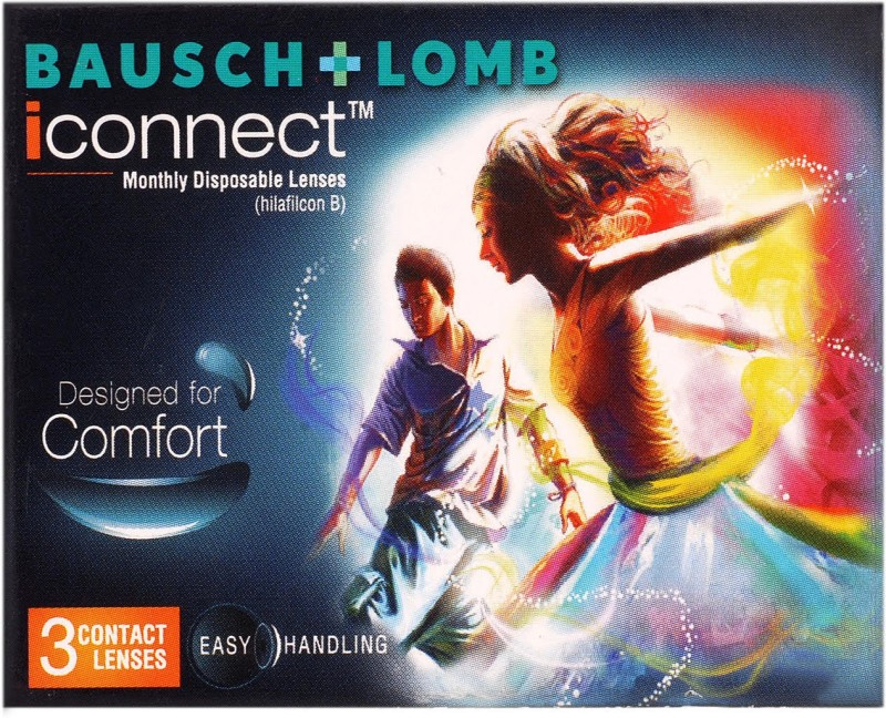 Bausch & Lomb bl44 Monthly Contact Lens(-4.5, transparent, Pack of 3)