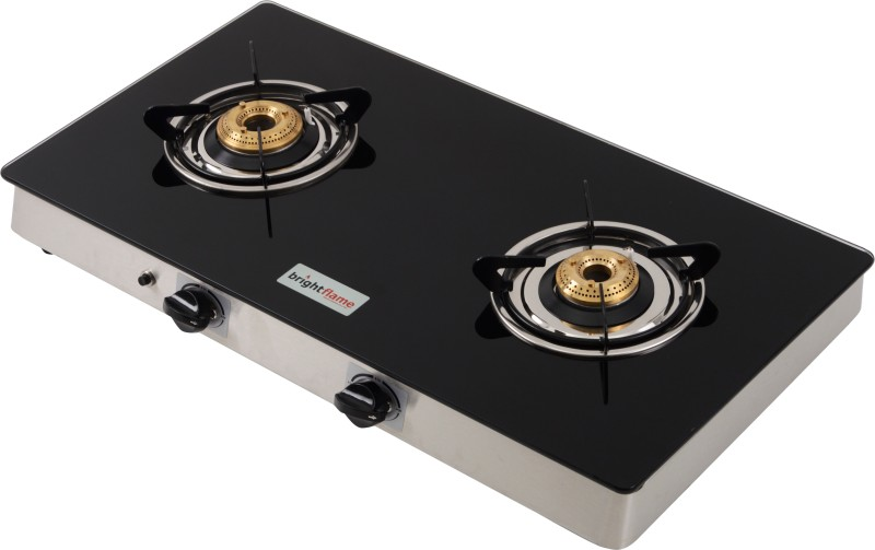 brightflame TULIP Steel Manual Gas Stove(2 Burners)