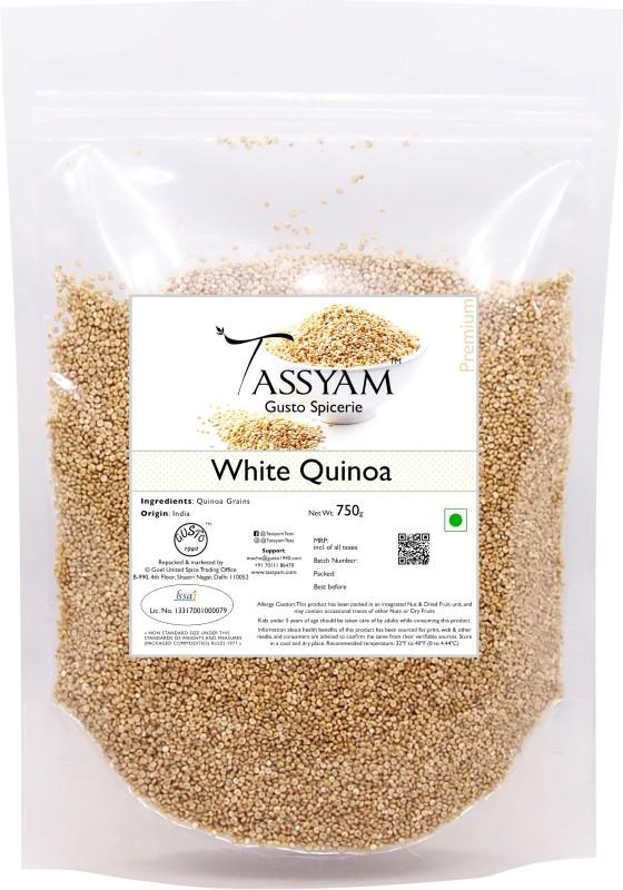 Tassyam Gluten Free Whole White Quinoa Grain, 750g Pouch Quinoa(750 g)