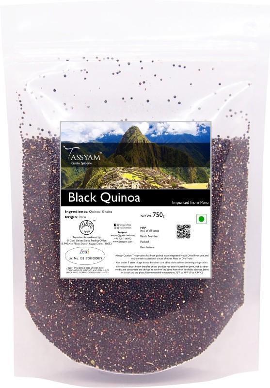 Tassyam Gluten Free Peruvian Black Quinoa Grain, 750g Pouch | Imported from Peru Quinoa(750 g)