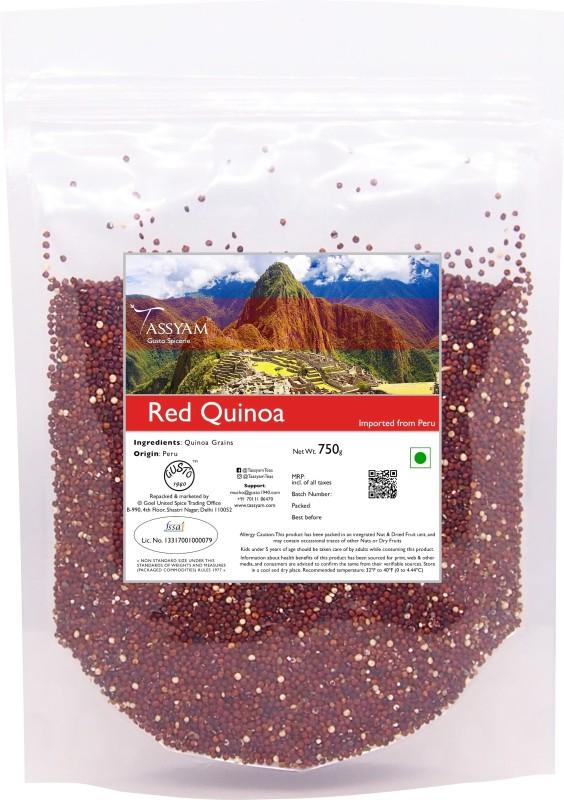 Tassyam Gluten Free Peruvian Red Quinoa Grain, 750g Pouch | Imported from Peru Quinoa(750 g)
