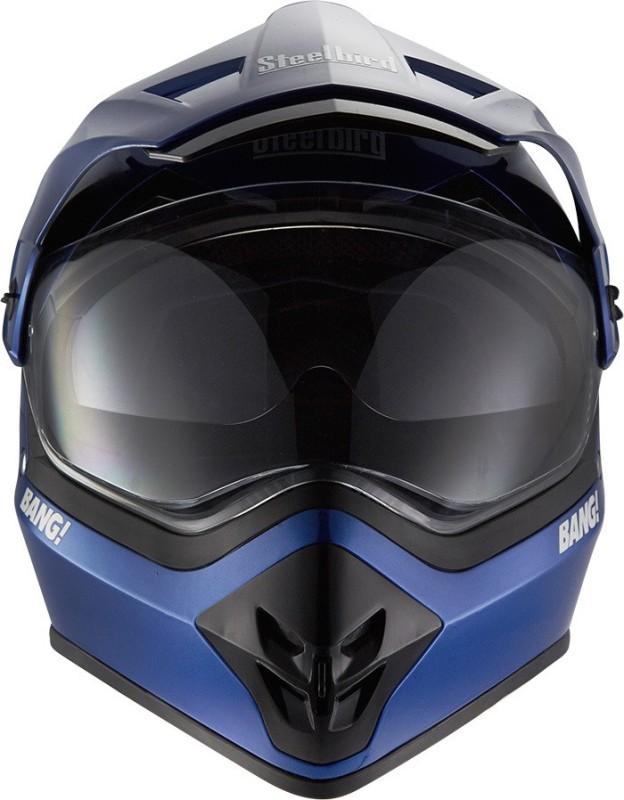 Steelbird Steel Bird Motorcross Bang-42 Helmet Motorbike Helmet(Blue, Black)