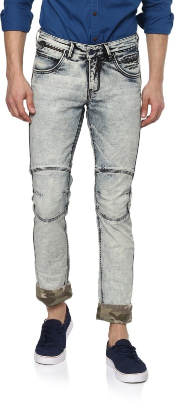 Spykar Slim Men Grey Jeans