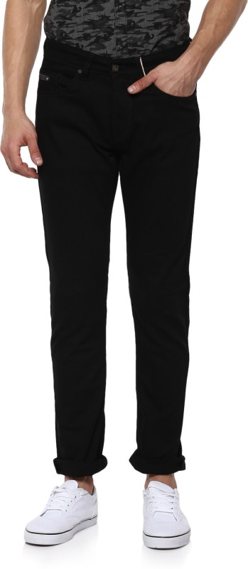 Spykar Regular Mens Black Jeans