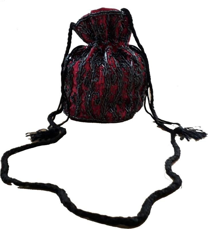 HimalayaHandicraft Potli Bag Potli(Pink)
