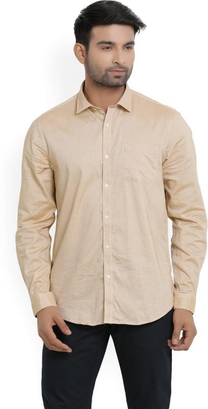Blackberrys Mens Solid Casual Spread Shirt
