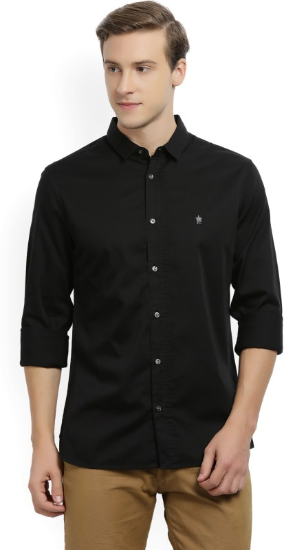 French Connection Mens Solid Party Spread Shirt
